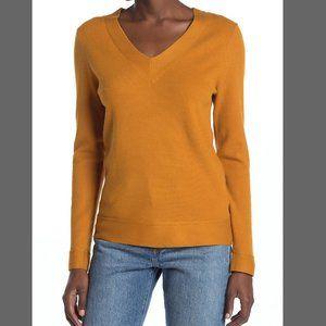 Cyrus V-Neck Yummy Yarn Sweater Golden Spice XL